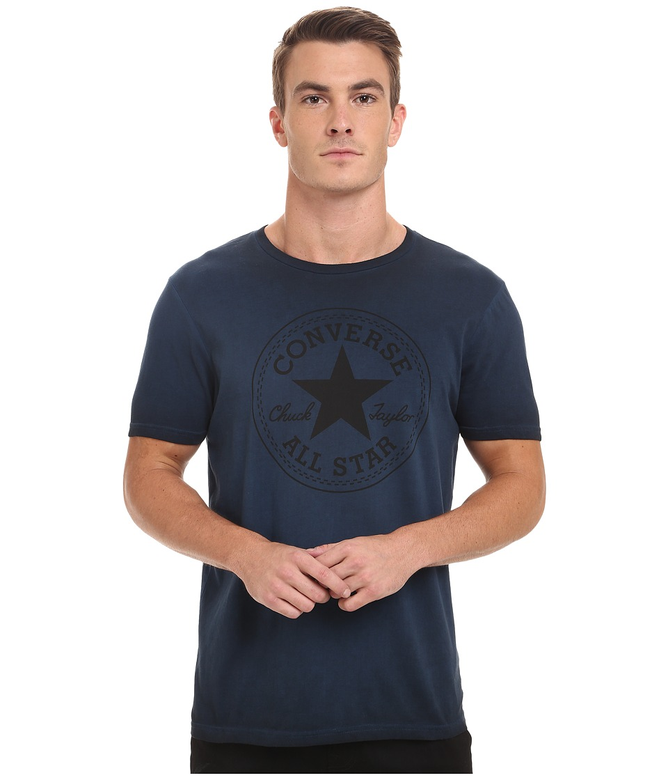 Converse - Black Wash Short Sleeve Crew Tee (Blue) Men's T Shirt