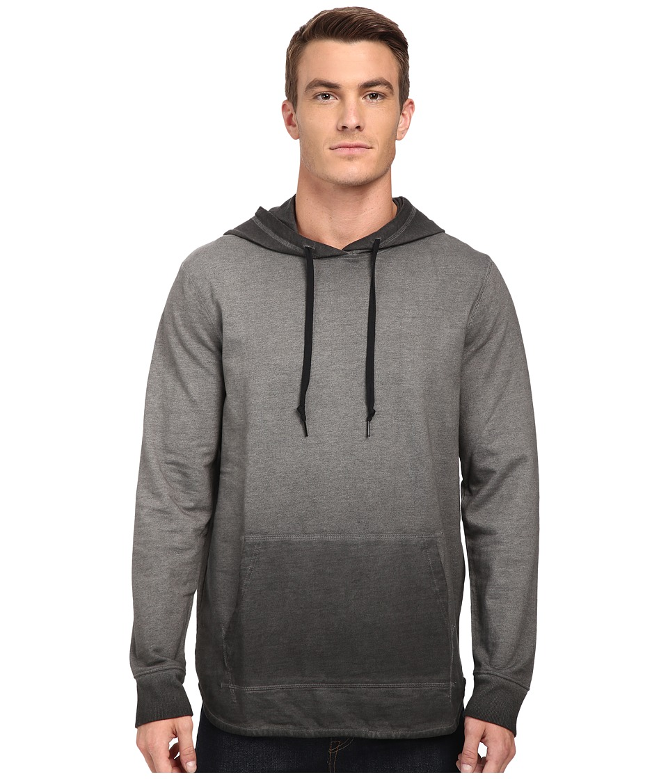Converse - Black Wash Hoodie (Grey/Black) Men's Sweatshirt