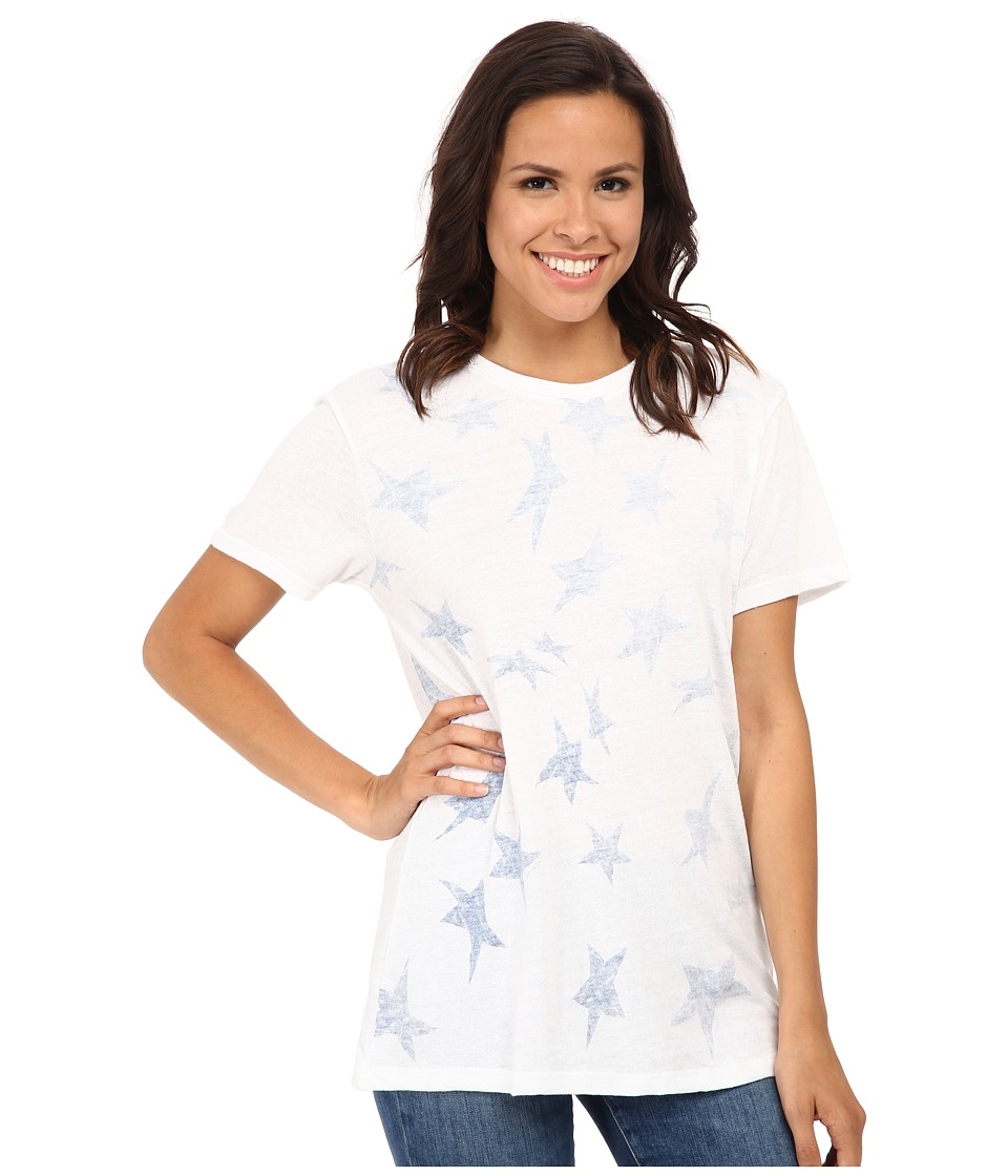 Converse - Star Print Boyfriend Short Sleeve Tee Triblend (White) Women