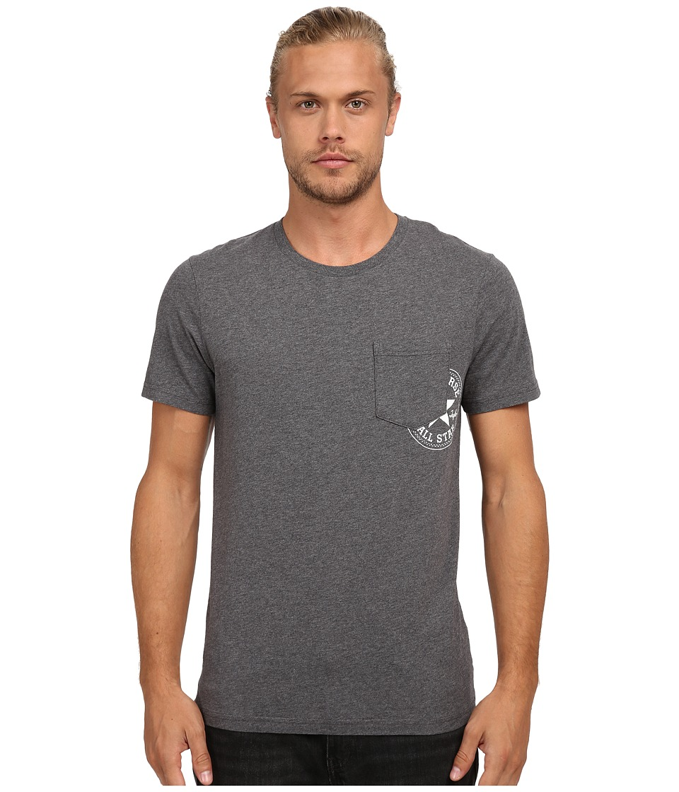 Converse - Hidden Core Patch Short Sleeve Pocket Tee (Dark Grey Heather) Men