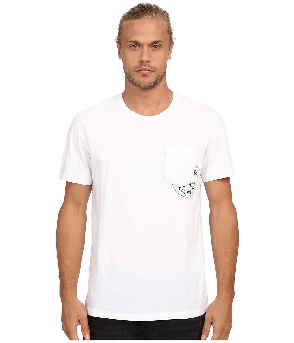 Converse Hidden Core Patch Short Sleeve Pocket Tee (White) Men