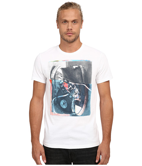 Converse - Sneaker Short Sleeve Tee (White) Men's T Shirt