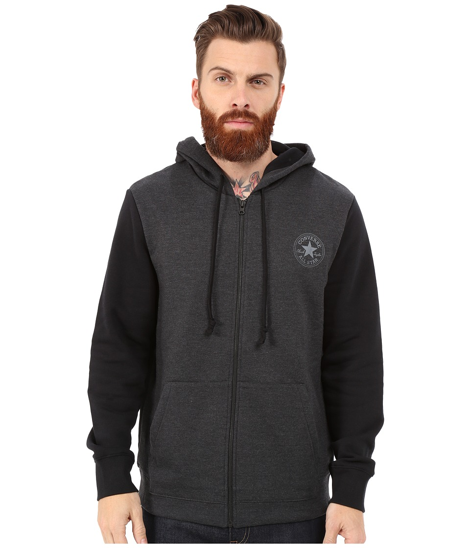 Converse - Core Plus Holiday Full Zip Hoodie (Black) Men
