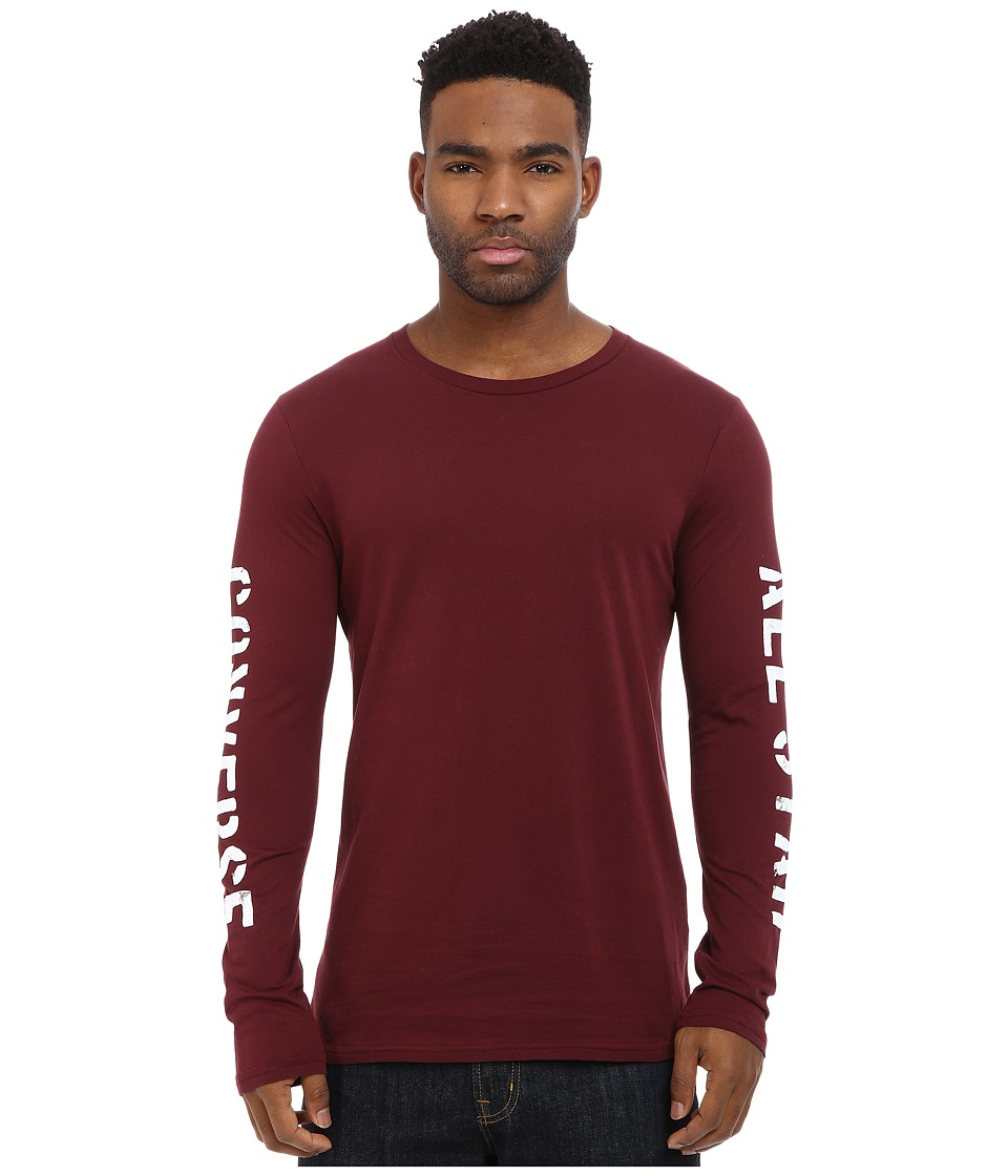 Converse - Stencil Long Sleeve Tee (Team Red) Men's T Shirt