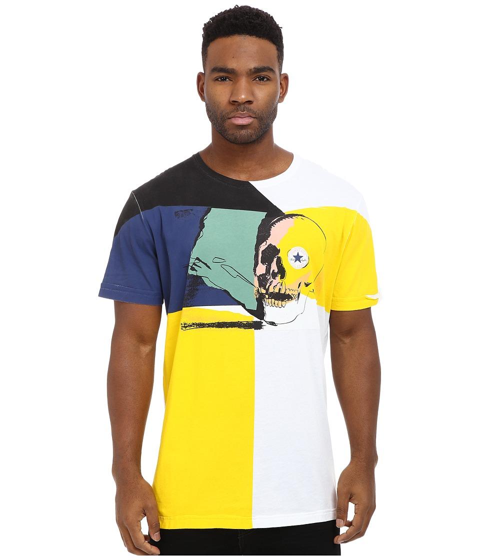 Converse - Warhol Skull Short Sleeve Crew Triblend Tee (White) Men's T Shirt