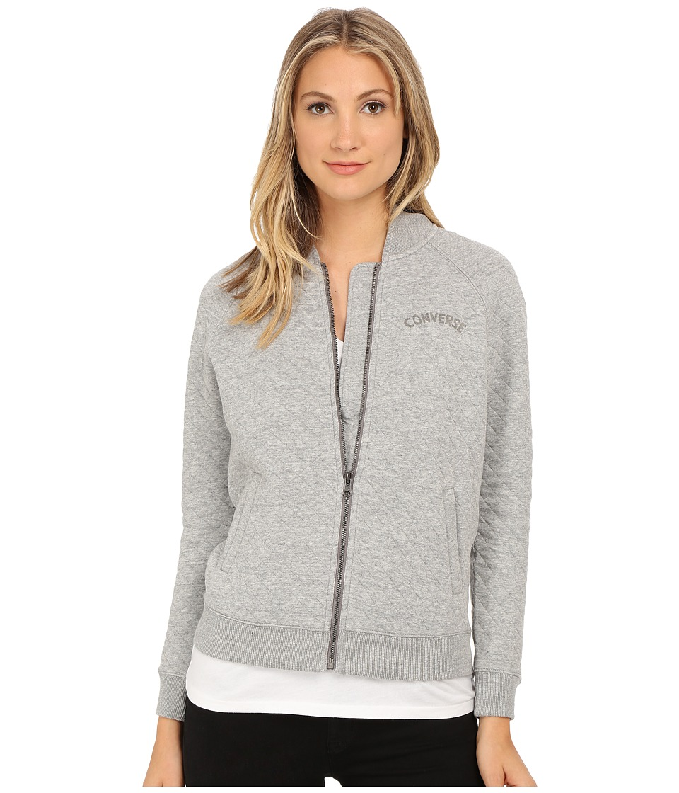 Converse - Core Plus Bomber Jacket (Grey Heather) Women's Coat