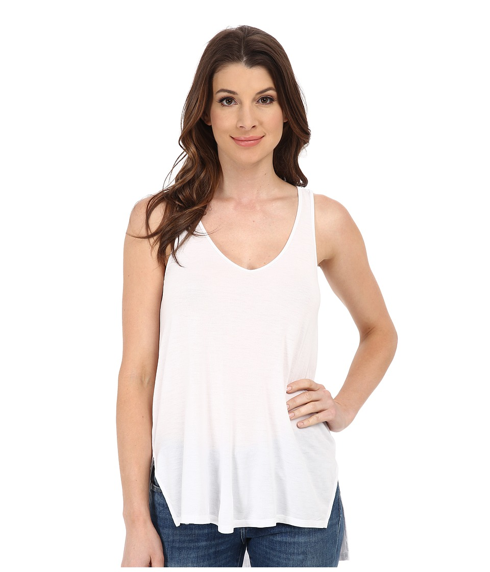 Michael Stars - Jersey Lycra Soft Vee Tank Top (White) Women