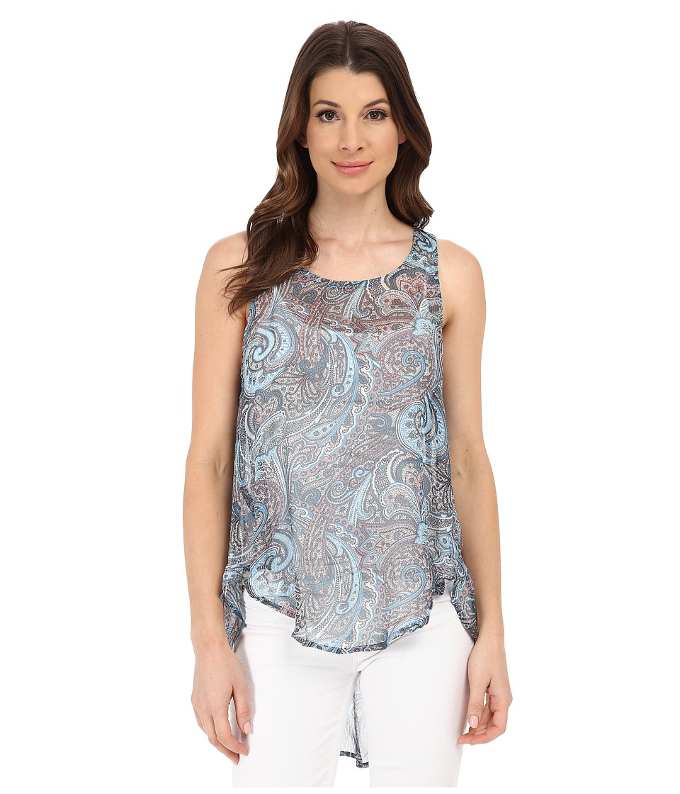 Michael Stars - Paisley Crinkle Chiffon Tank Top (Newport Multi) Women's Sleeveless