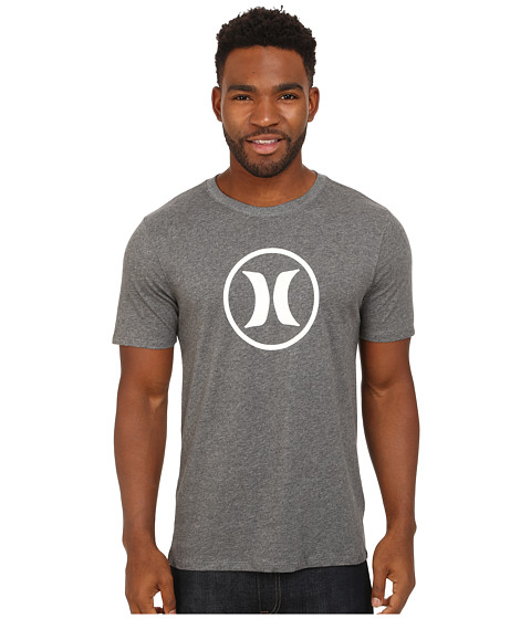 Hurley - Icon Dri-Fit Tee (Heather Charcoal) Men