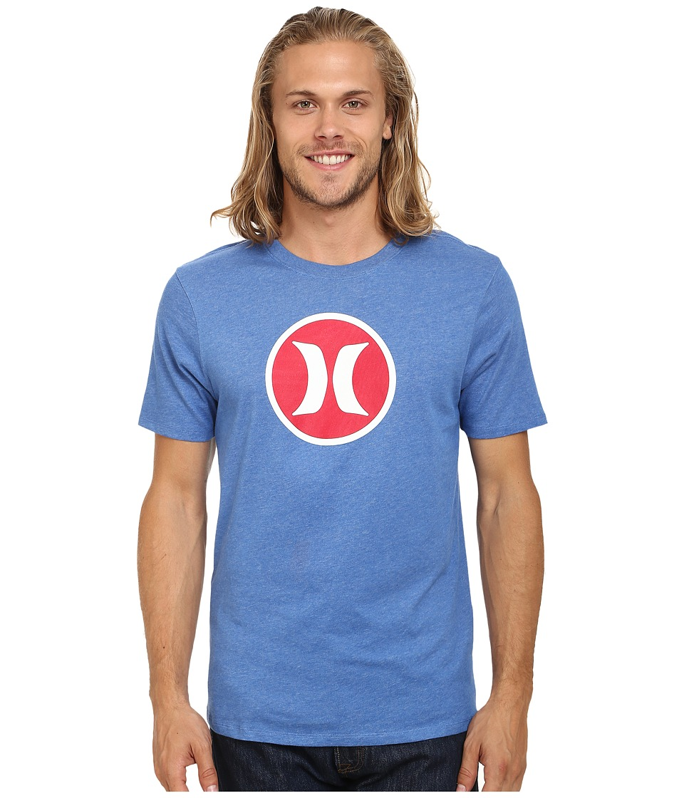 Hurley - Icon Dri-Fit Tee (Heather Sports Blue) Men