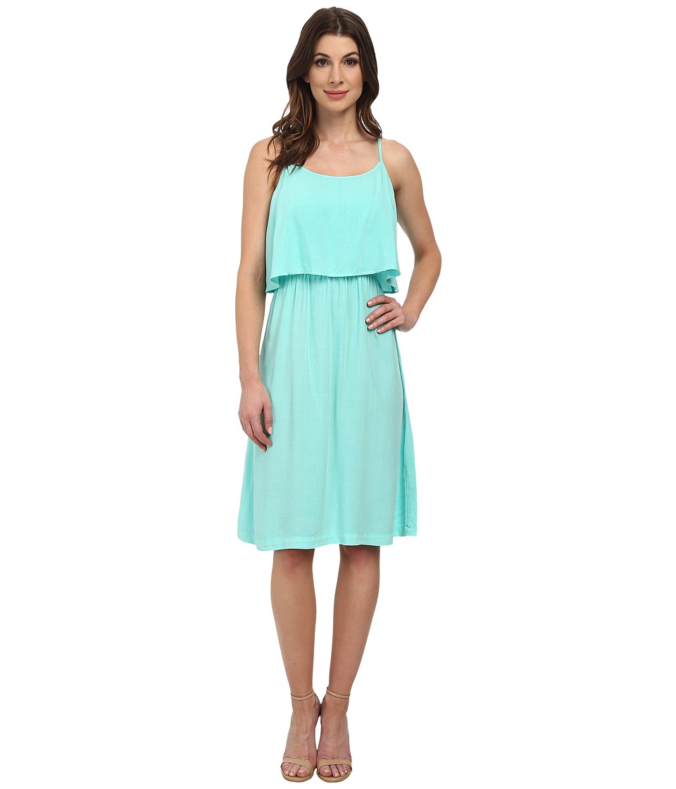 Michael Stars Modern Rayon Cami Dress w/ Open Back (Aruba) Women