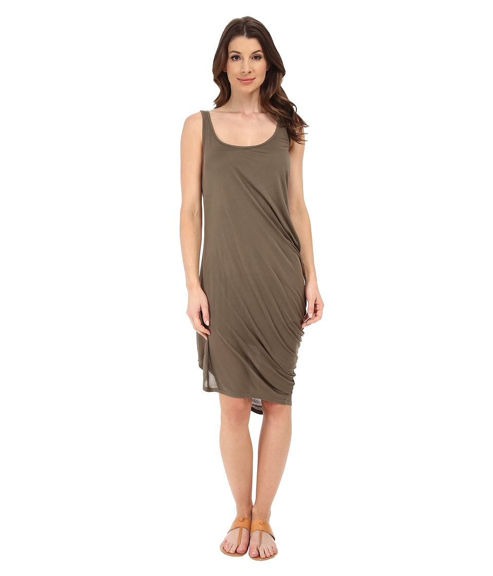 Michael Stars Micro Modal Asymmetrical Tank Dress (Caper) Women