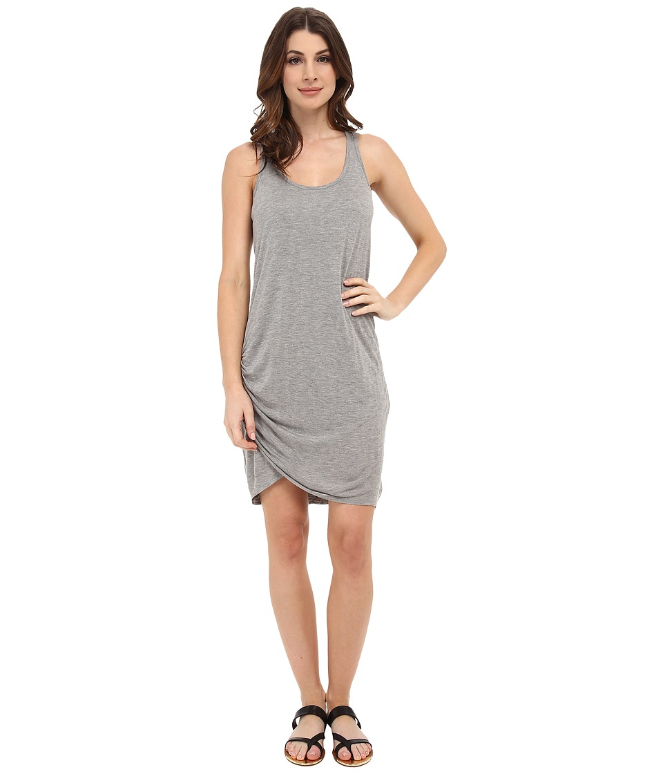 Michael Stars - Micro Modal Scoop Neck Racerback Dress (Heather Grey) Women's Dress