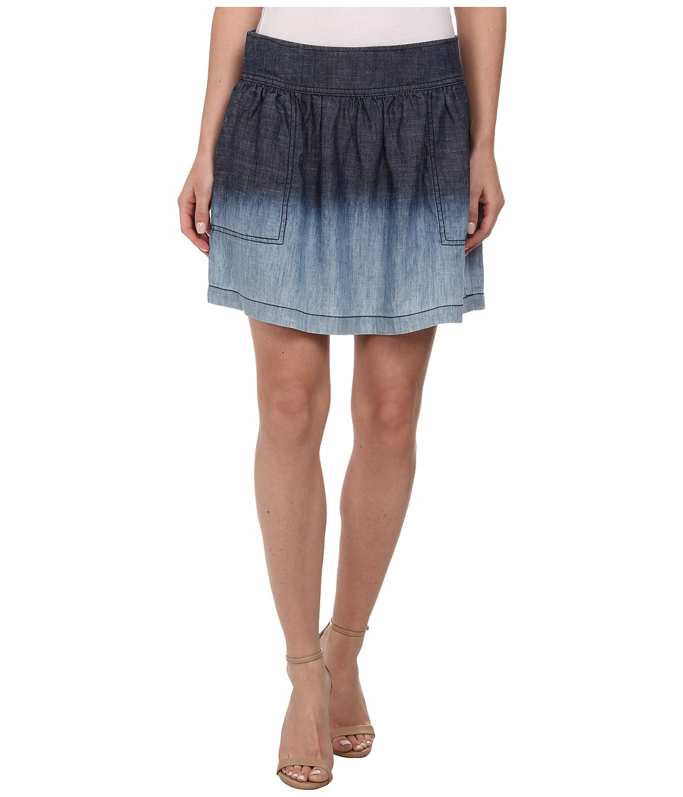 Michael Stars - Linen Denim Tencel Skirt (Ombre) Women's Skirt