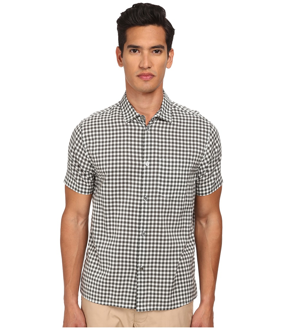 Marc by Marc Jacobs - Printed Check Short Sleeve Shirting (Chalk White Multi) Men