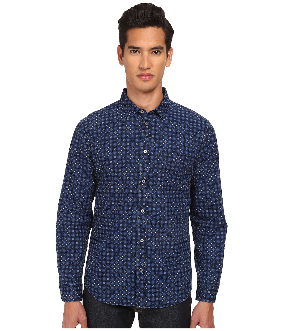 Marc by Marc Jacobs - Sunburst Chambray (Mazarine Blue Multi) Men's Long Sleeve Button Up
