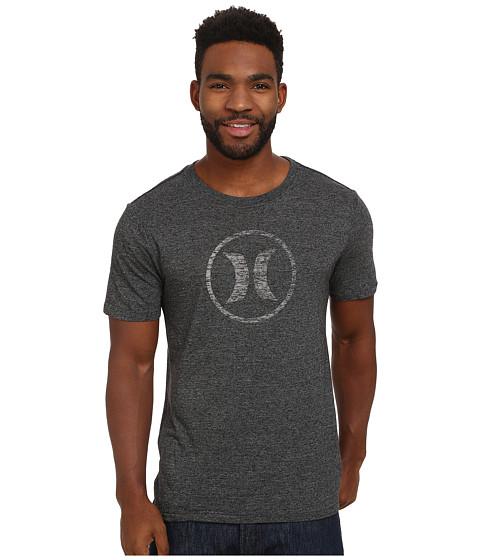 Hurley - Icon Push Through Tri-Blend Tee (Grey Black) Men's T Shirt