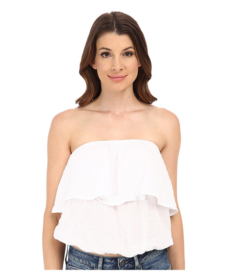 Michael Stars - Double Gauze Blouson Tube Top (White) Women's Blouse