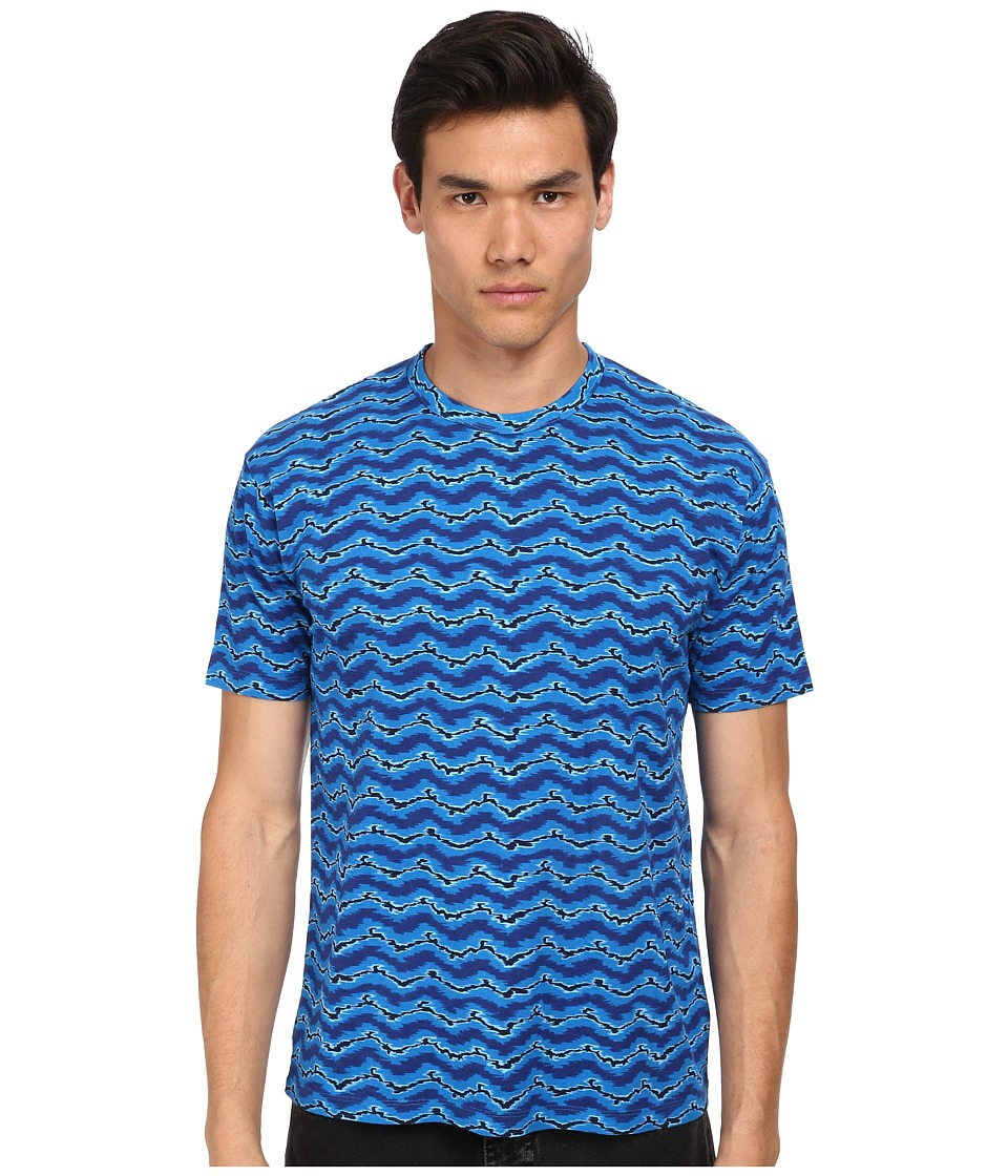 Marc by Marc Jacobs - Electric Ikat Jersey Tee (Blue Multi) Men