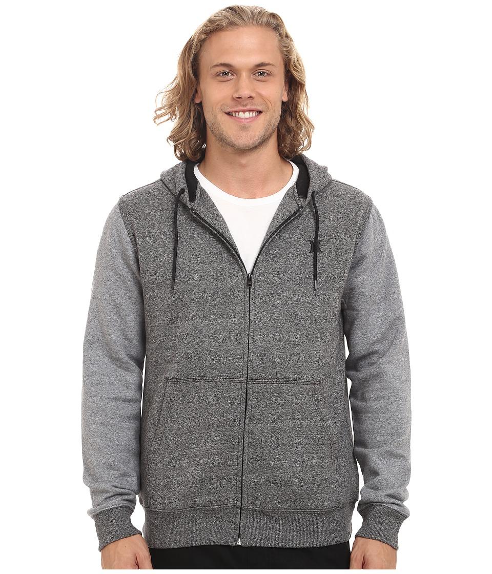 Hurley - Getaway Fleece Zip (Black) Men's Clothing