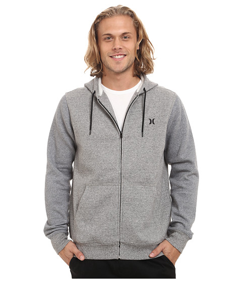 Hurley - Getaway Fleece Zip (White) Men