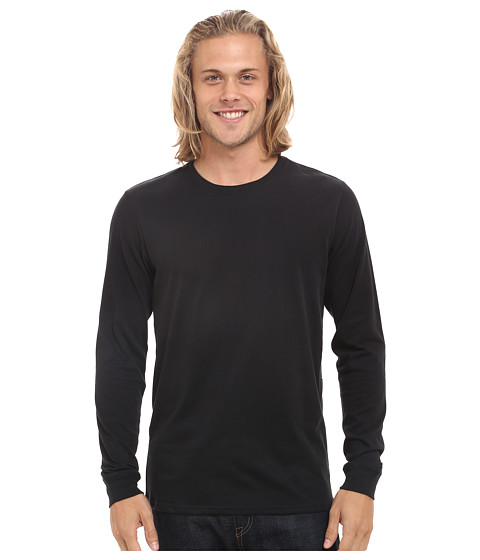 Hurley - Staple Dri-Fit Long Sleeve (Black) Men's Clothing