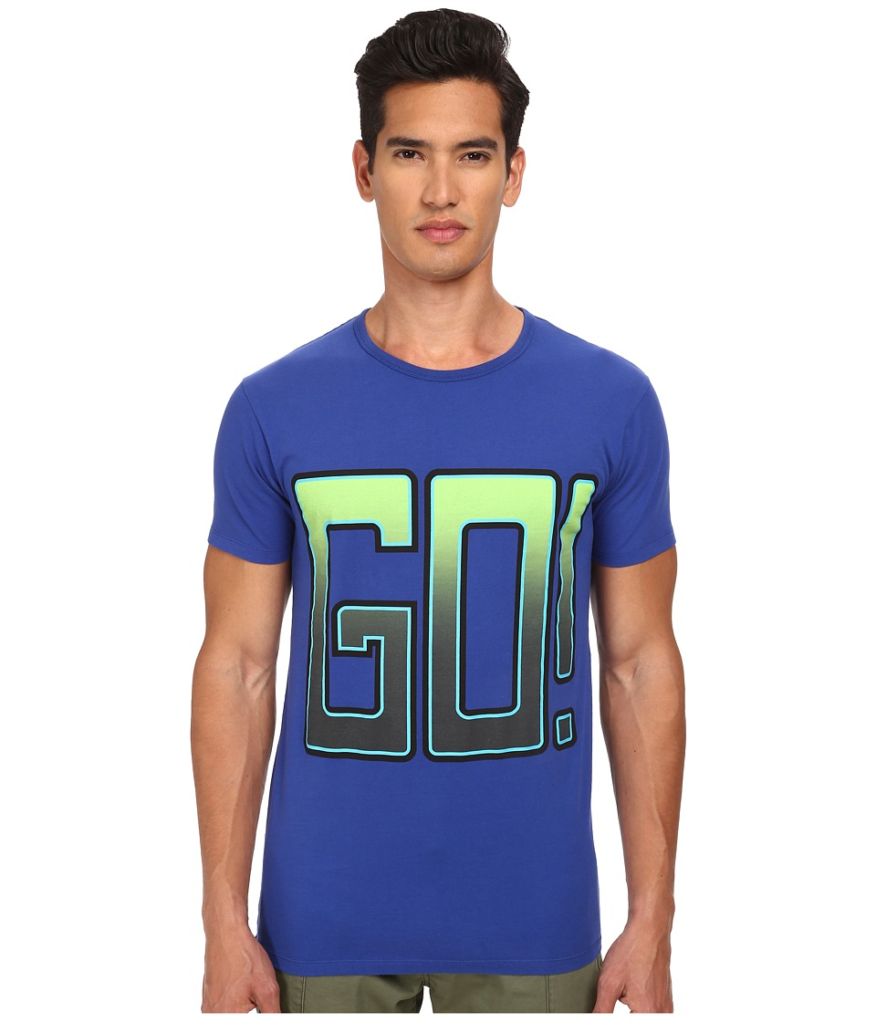 Marc by Marc Jacobs - Go Tee (Mazarine Blue Multi) Men's Short Sleeve Pullover