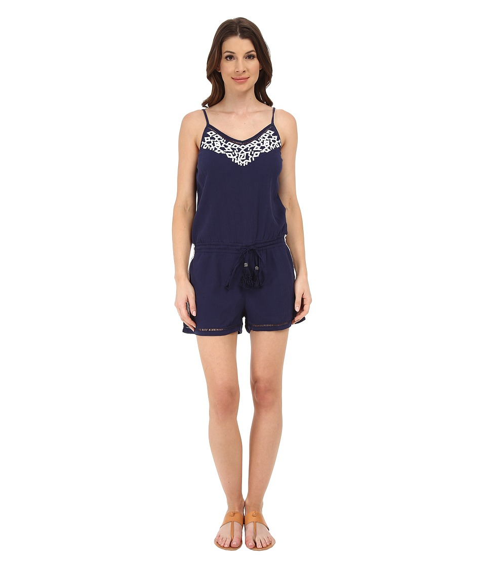 Michael Stars - Embroidered Gauze Romper (Navy/White) Women's Jumpsuit & Rompers One Piece