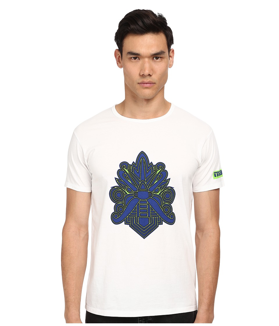 Marc by Marc Jacobs - Mad Mask Tee (Wicken White Multi) Men