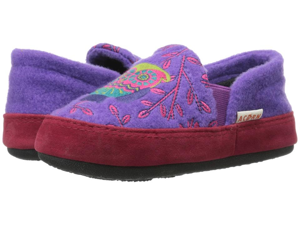 Acorn Kids - Colby Gore Moc (Toddler/Little Kid/Big Kid) (Purple Owl) Girls Shoes