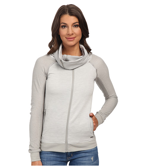 G-Star - Keshan Coll Sw Vest Long Sleeve (Dark Concrete Heather) Women's Sweatshirt