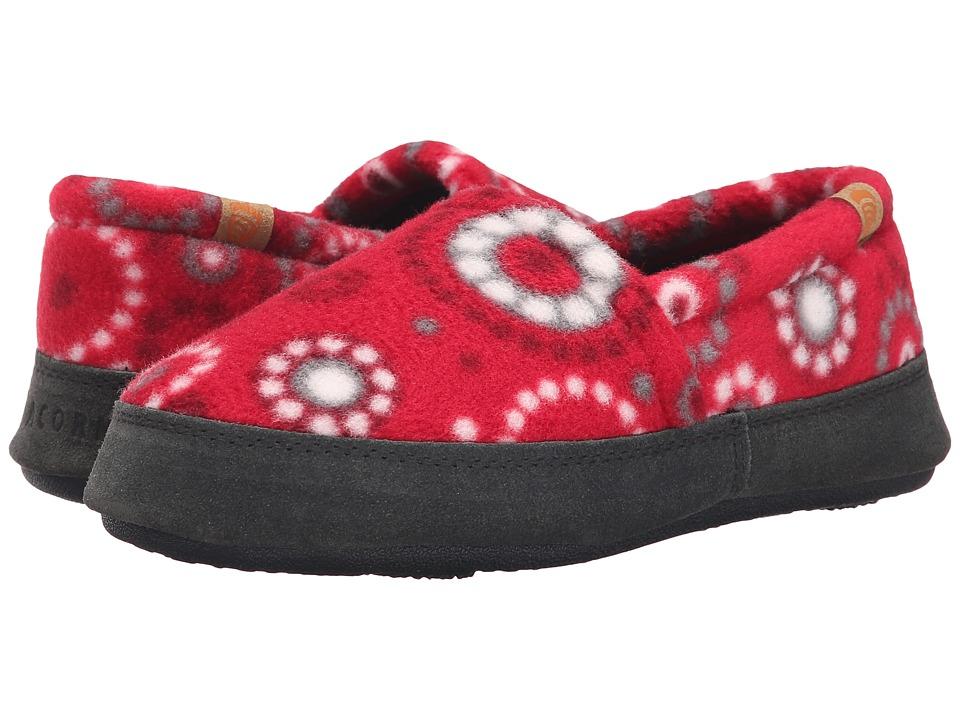 Acorn Kids - Acorn Moc - Kids (Toddler/Little Kid/Big Kid) (Red Dots) Girls Shoes