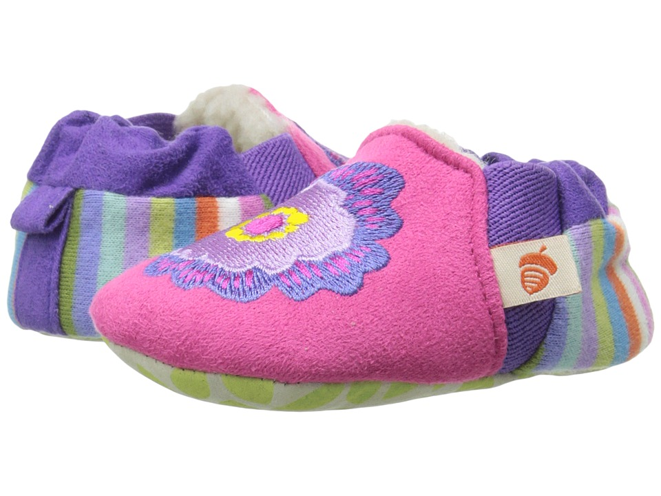 Acorn Kids Easy On Moc Tots (Infant) (Pink Flower) Girls Shoes