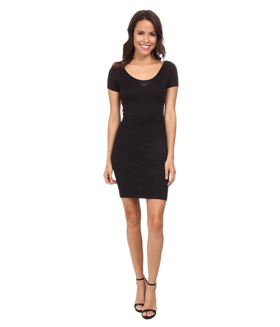 G-Star - US Slim Isyd R T Long Short Sleeve (Black) Women's Dress