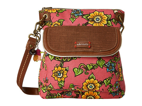 Sakroots - Artist Circle Flap Crossbody (Strawberry True Love) Cross Body Handbags