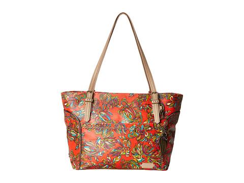 Sakroots - Artist Circle Medium Satchel (Cayenne Treehouse) Tote Handbags