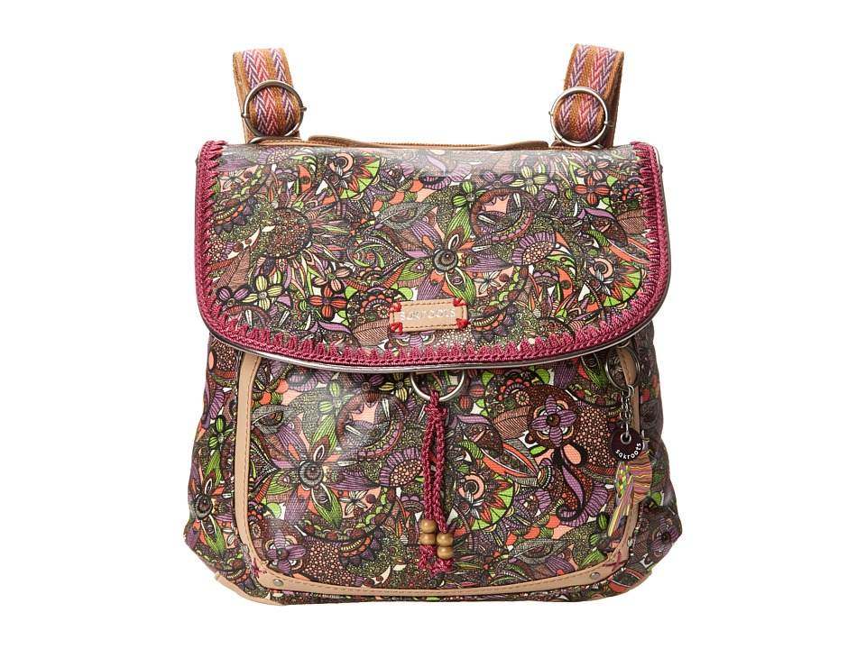 Sakroots - Artist Circle Coated Convertible Backpack (Lavender Spirit Desert) Backpack Bags