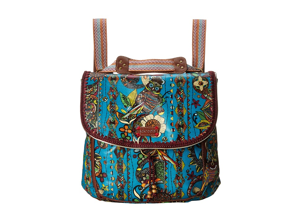 Sakroots - Artist Circle Coated Convertible Backpack (Teal Spirit Desert) Backpack Bags