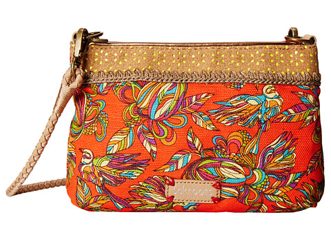 Sakroots - Artist Circle Campus Mini (Cayenne Treehouse) Cross Body Handbags