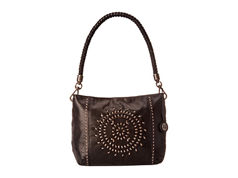 The Sak - Indio Leather Demi (Black Whipstitch) Shoulder Handbags