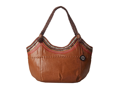 The Sak - Indio Satchel (Tobacco Ribbon) Shoulder Handbags
