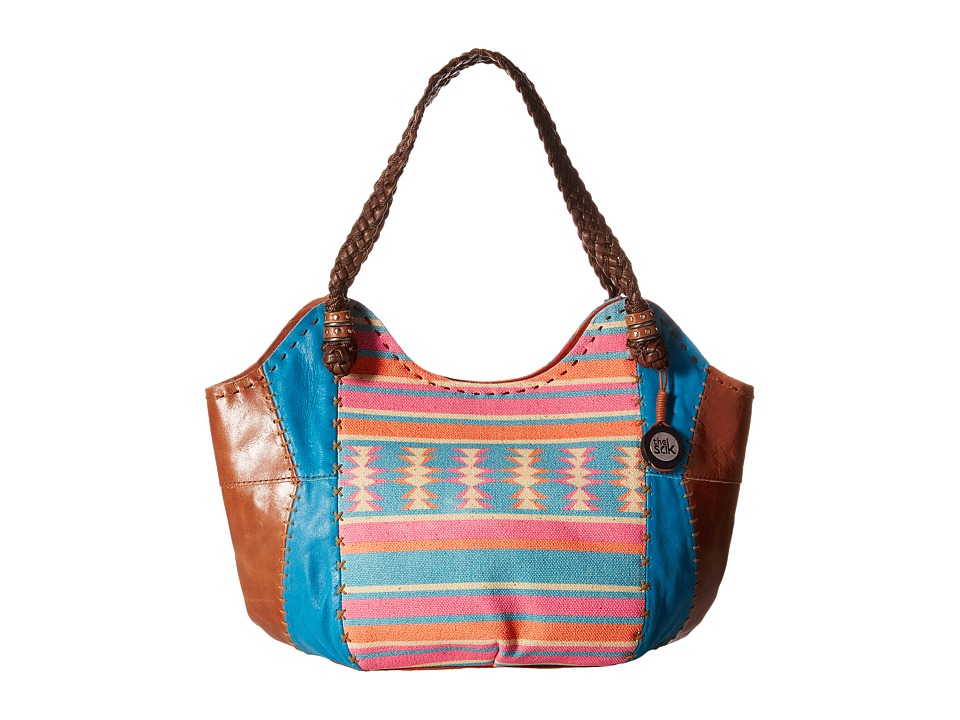 The Sak - Indio Satchel (Aquatic Aztec) Shoulder Handbags