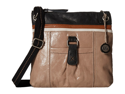 The Sak - Kendra Leather Crossbody (Shitake Stripe) Cross Body Handbags