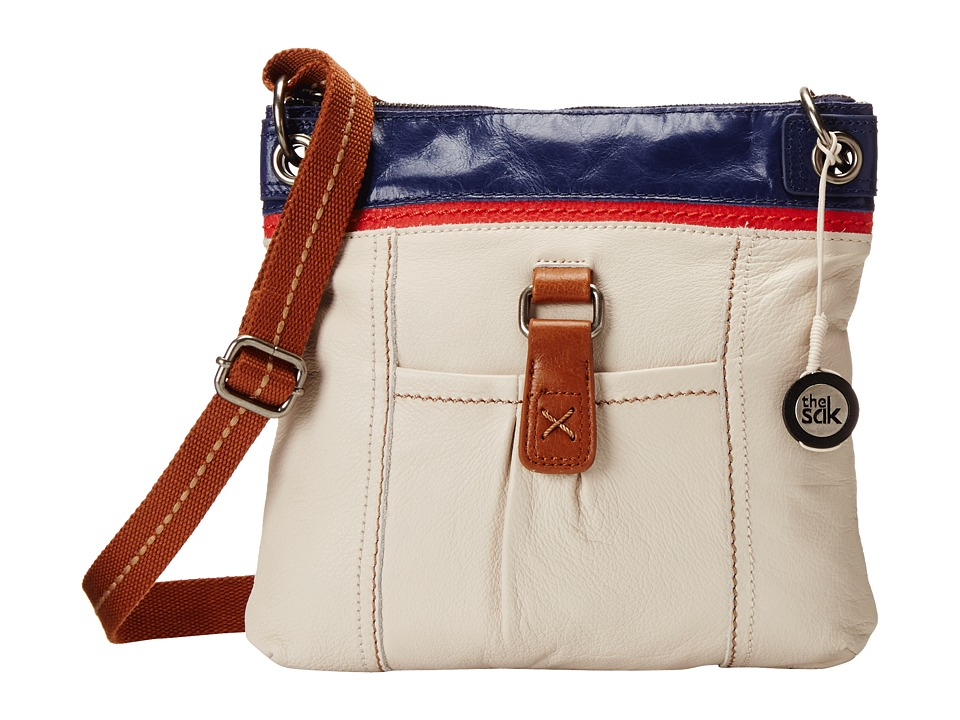 The Sak - Kendra Leather Crossbody (Americana Block) Cross Body Handbags