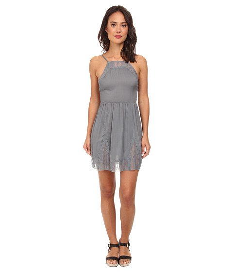 Free People - Lace Slip Dress (Vapor Blue) Women