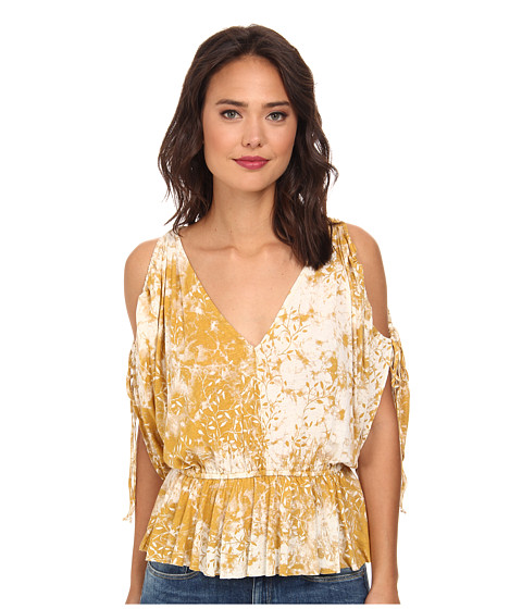 Free People - Abracadabra Top (Golden Rod) Women's Short Sleeve Pullover