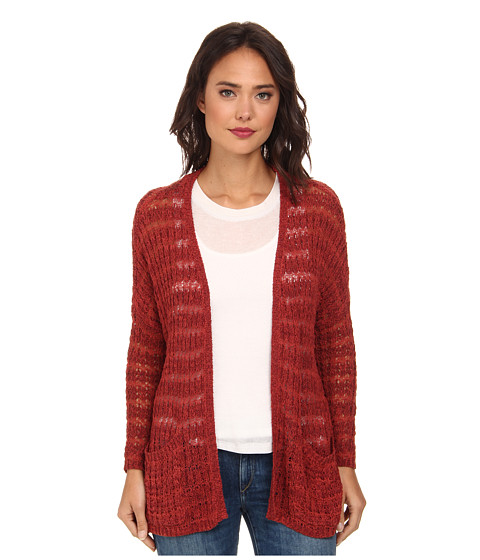 Free People - Last Night Cardigan (Sunset Orange) Women's Sweater