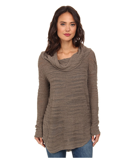 Free People - Reunion Drape Cowl (Mushroom) Women's Long Sleeve Pullover
