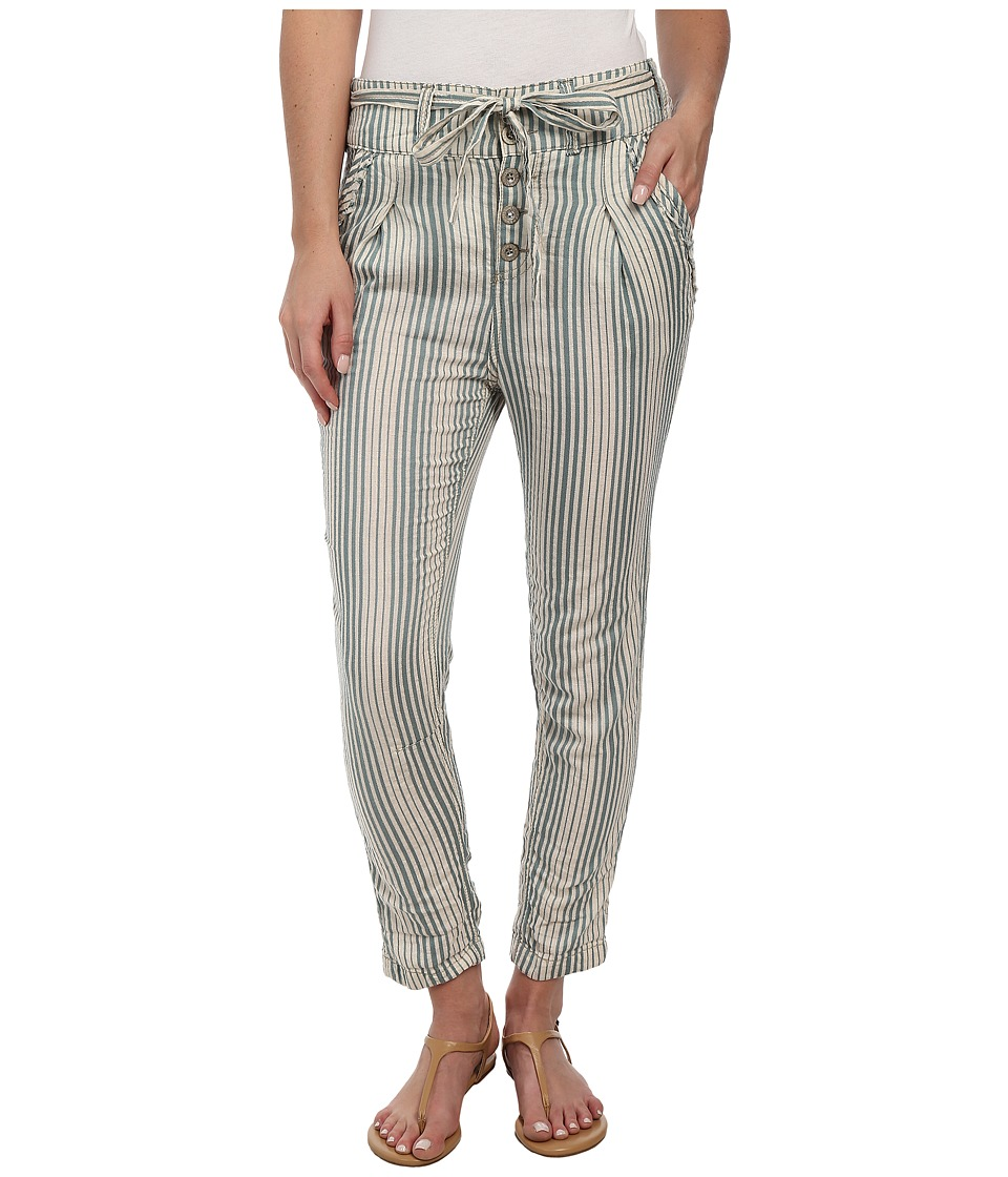 Free People - Beach Trouser (Cream/Teal) Women's Casual Pants