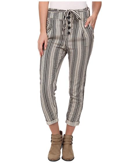 Free People - Beach Trouser (Black/Ivory) Women